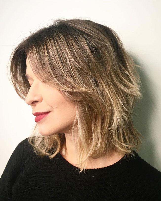 cortes de pelo para cabello fino: shaggy