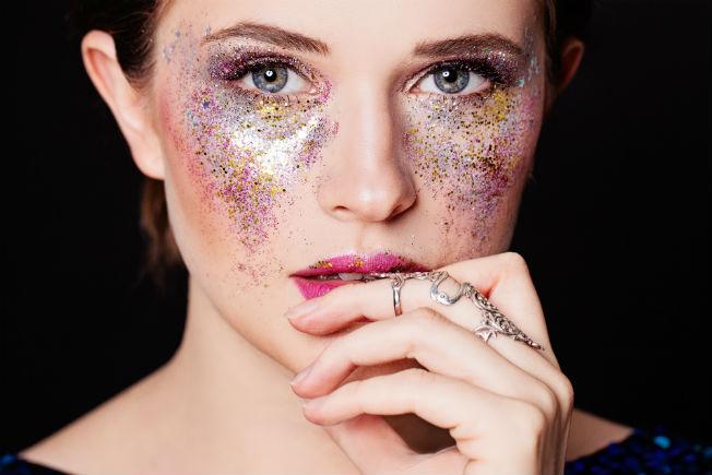 Maquillaje de Carnaval con purpurina