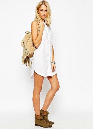 Vestido blanco de Abercrombie