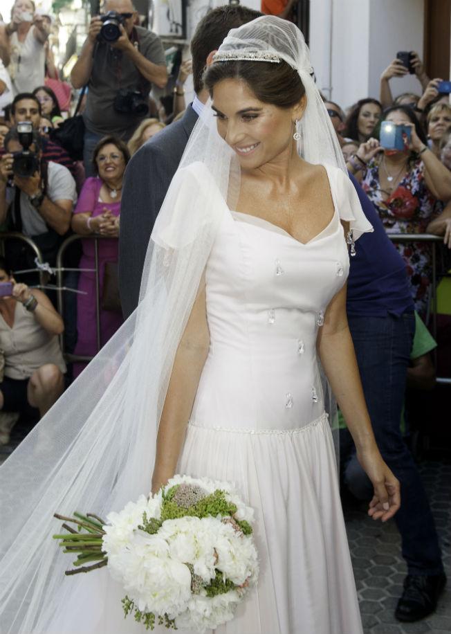 Lourdes Montes diseñó su propio traje de novia para la boda con Fran Rivera. ABC