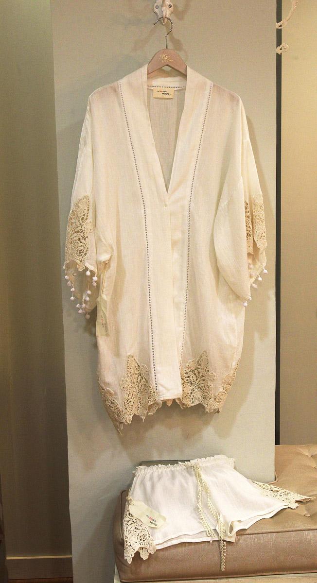 Kimono y short de algodón de la marca My Sunday Morning