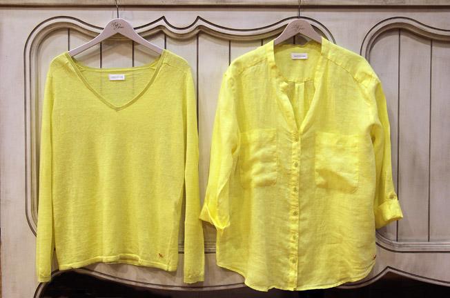 Camisa y jersey de pico de lino de la marca Harris Wilson