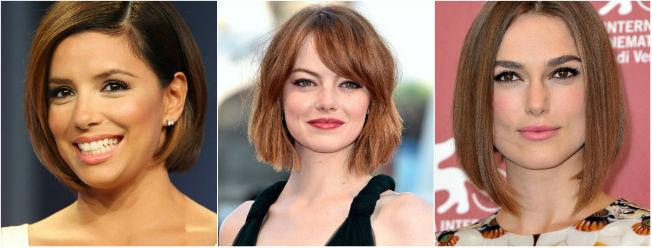 Eva Longoria, Emma Stone y Keira Knightley con sus cortes de pelo bob