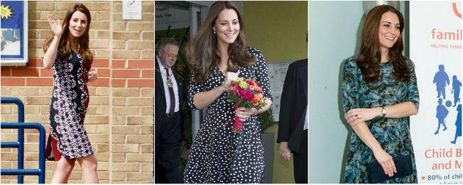 Looks con vestidos primaverales y premamá de Catalina de Cambridge