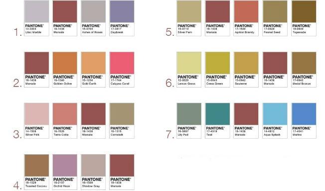 Combinaciones del marsala, elegido color del 2015 por Pantone