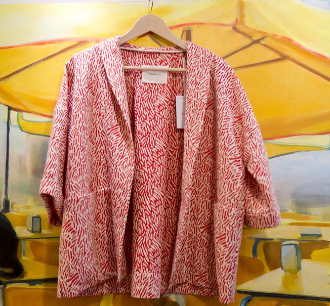 Chaqueta oversize estampada con corte estilo japonés de la diseñadora Sita Murt