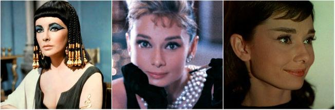 Maquillajes de película: Cleopatra, Desayuno con diamantes y Una cara con ángel.
