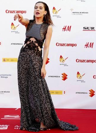 María León con vestido de Stella McCartney en Málaga. EFE