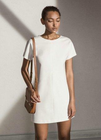 Vestido blanco Massimo Dutti