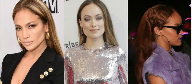 Jennifer Lopez, Olivia Wilde y Rihanna coinciden en peina de raya en medio y melena hacia atrás