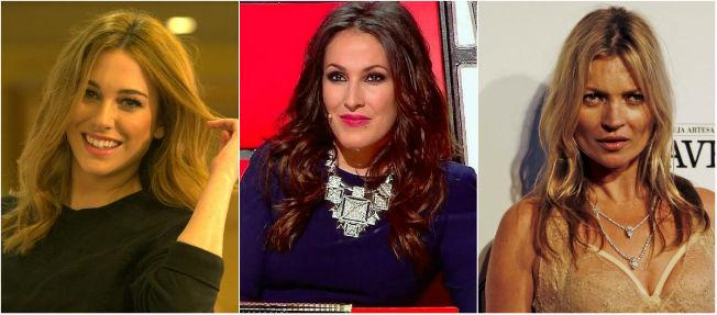 Blanca Suárez, Malú y Kate Moss coinciden en llevar el peinado de la melena suelta con raya en medio. De San Bernardo, Telecinco, Reuters.