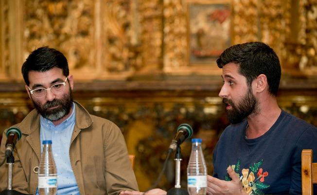 Rafa Muñoz y Moisés Nieto en una de las mesas redondas de Soy Moda