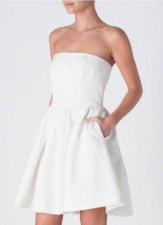 Vestido de honor blanco