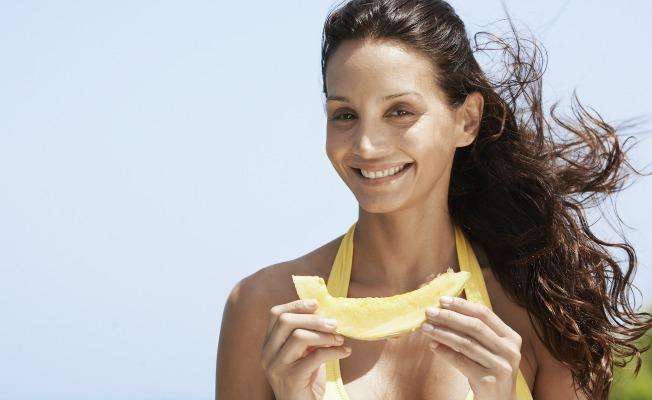 El melón es uno de los alimentos que potencian el bronceado