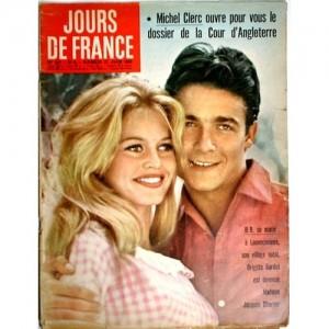 Portada de la revista Jours de France de la boda de Brigitte Bardot