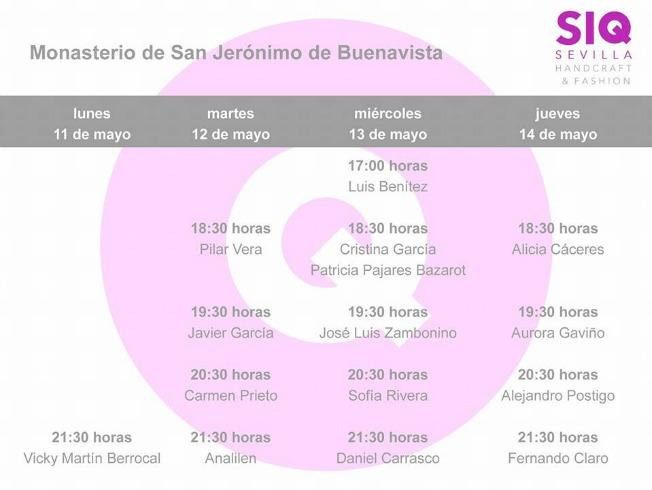 Calendario SIQ horarios desfiles 2015