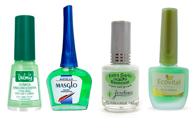 "Esmaltes ""base coat"" con ajo"