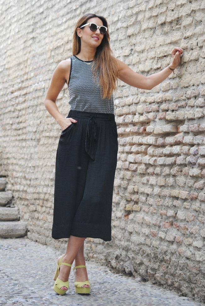 Combinar pantalón culotte