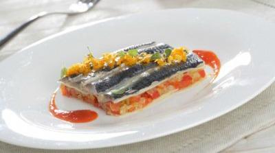 Lasaña de sardinas con verduritas