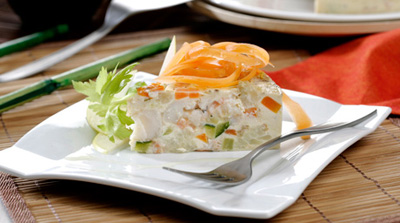 Pastel de pescado con verduras