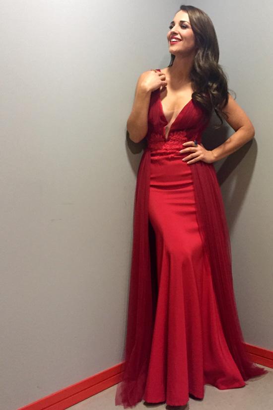 Paula Echvarría con vestido de Alejandro Postigo