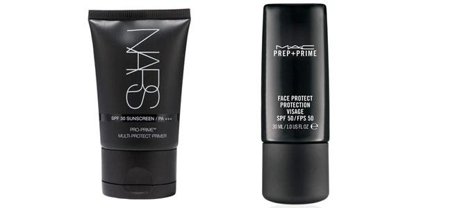 Prebases de maquillaje con filtro solar