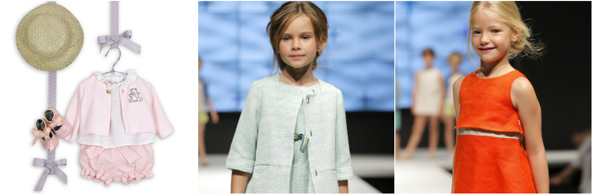 Diseños de la firma de moda infantil N+V para la primavera verano 2015