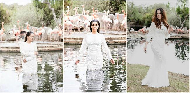 Ruth Lorenzo en el videoclip Flamingos con vestido de Alejandro Postigo