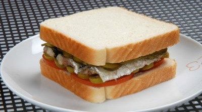Sandwich de sardinas