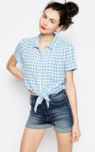 Camisa de cuadros Vichy