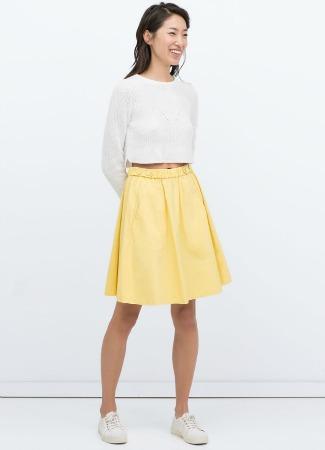 Falda amarilla de Zara