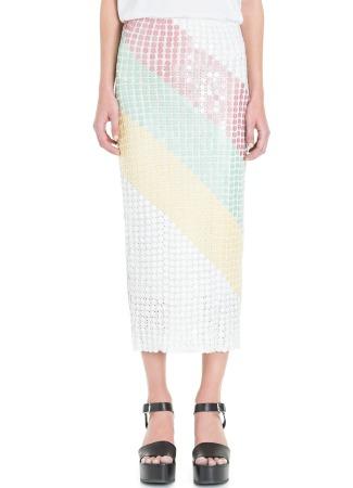Falda de crochet y lentejuelas