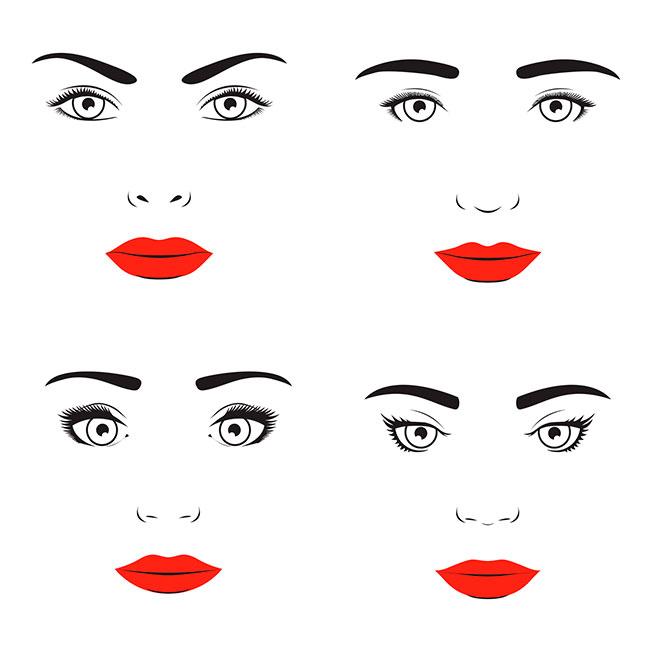 Distintas formas de ceja