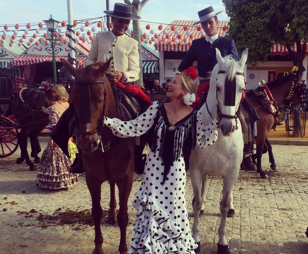 María no falla a la Feria de Abril de Sevilla y en ella derrocha estilo