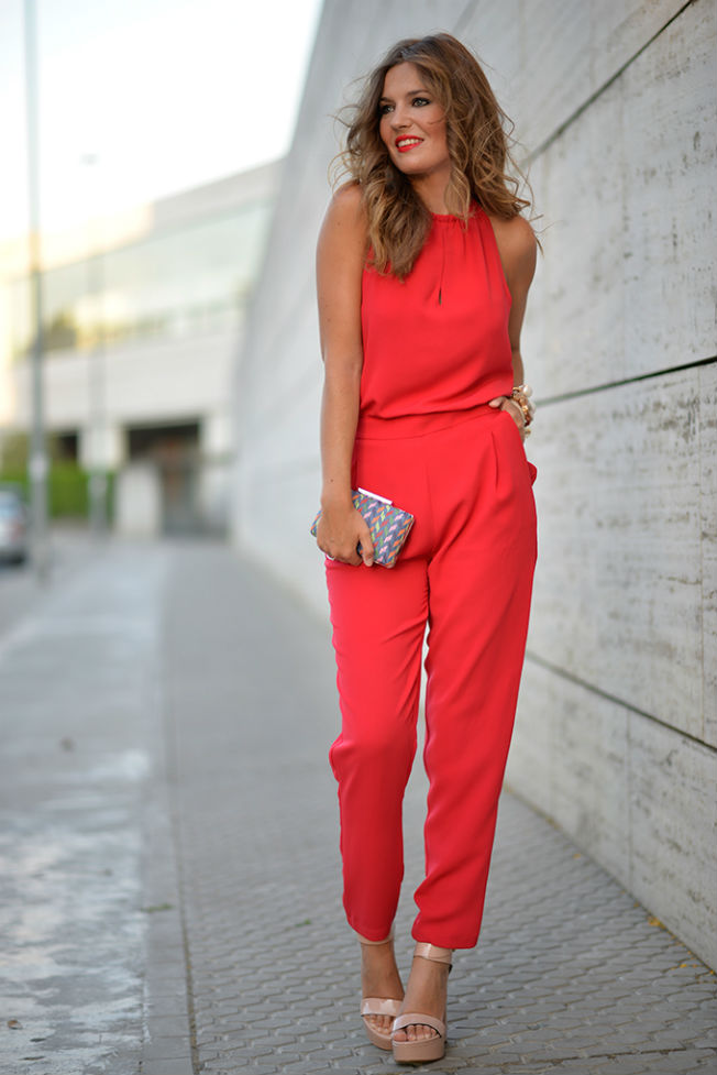Y Una El Para Rojo Favorecedora Opción Un Mono Verano Elegante 4XqES