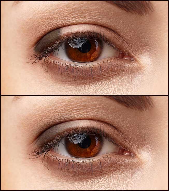 Sombras para ojos juntos