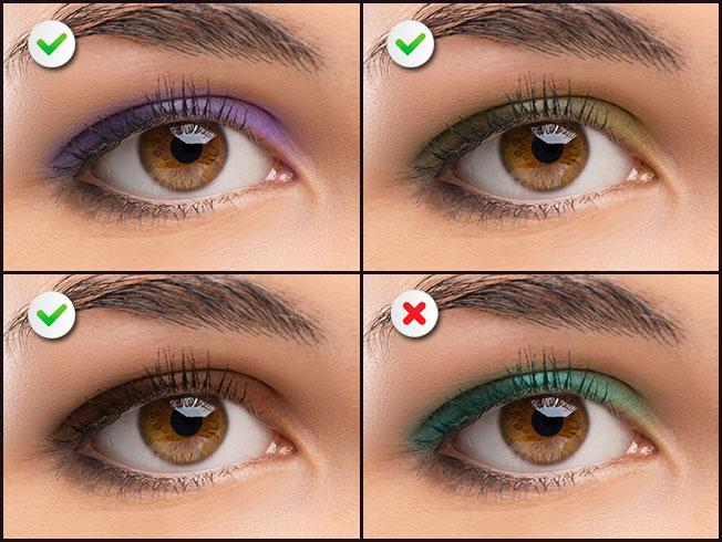Qu tonos de sombras favorecen a cada color de ojos for Sombras de ojos para ojos marrones