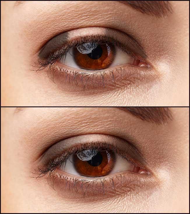 Sombra para ojos normales