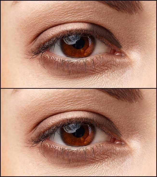 Sombra ojos separados