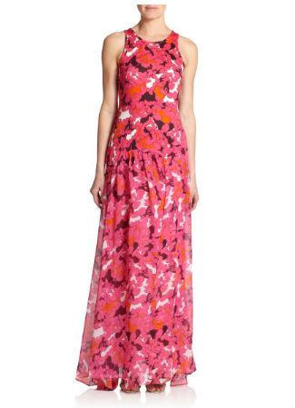 Vestido floral de Diane Von Furstenberg