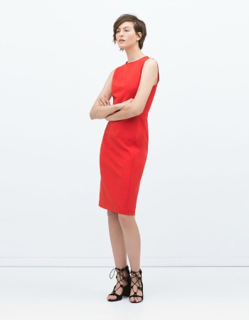 Vestido rojo de Zara