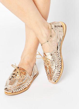 Sandalias plateadas y doradas de Asos