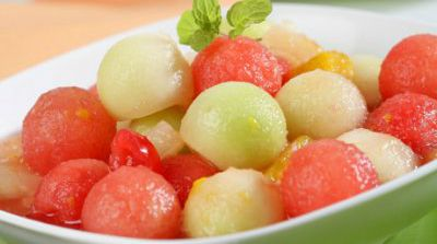 Macedonia de melón y sandía