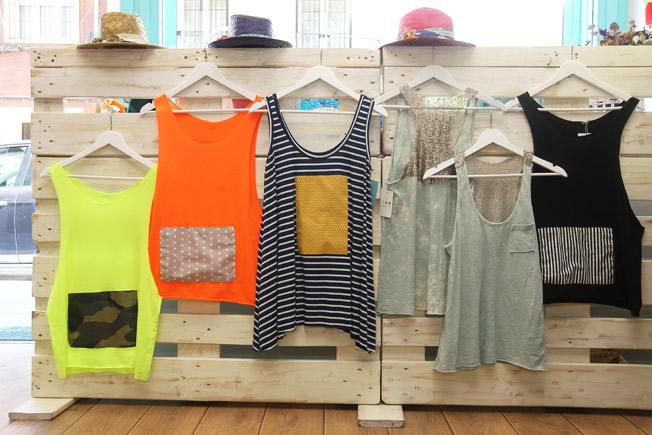 Pom Pi Du Collection: camisetas banda, marineras patch, despintadas con espalda y tirantes de lentejuelas