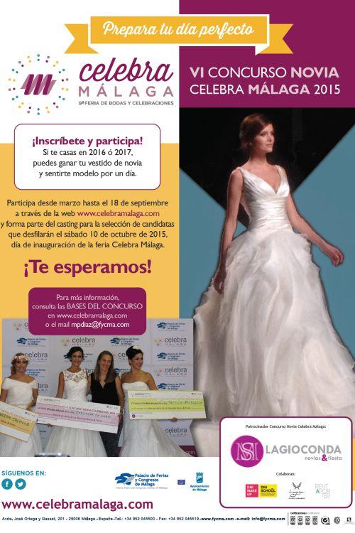 Cartel concurso novias de Celebra Málaga
