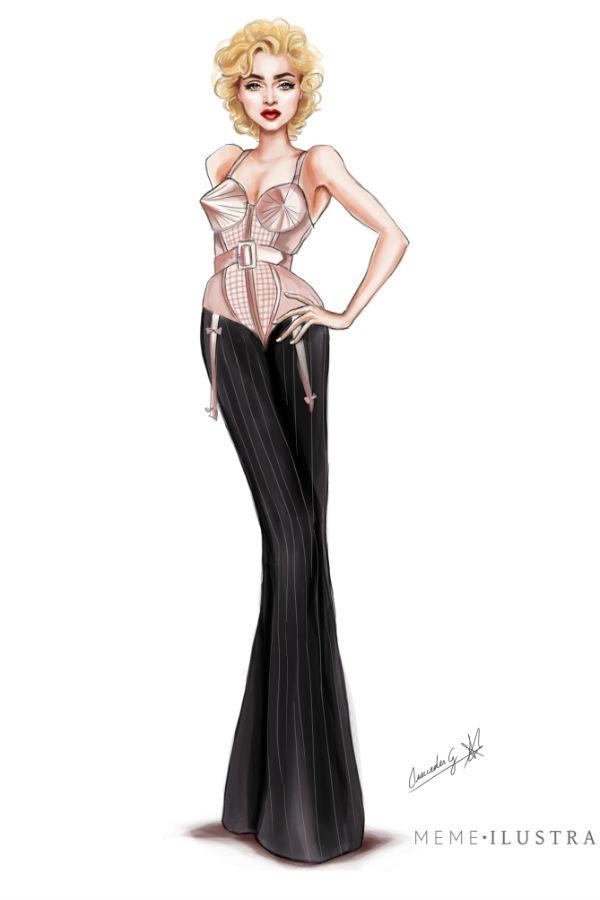Madonna por Mercedes Galán