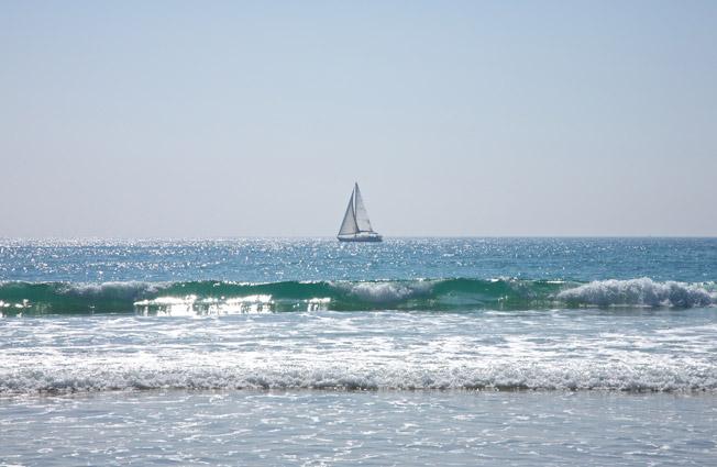 Vista de la playa de Cádiz