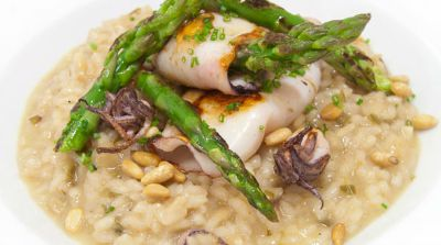 risotto-chipirones