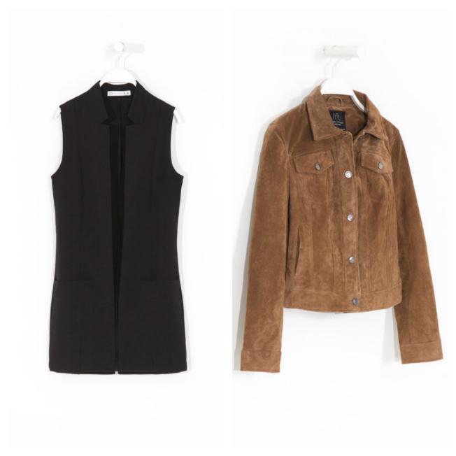 Compras inteligentes: chalecos largos y chaquetas cortas