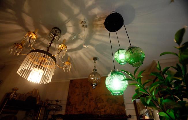 Lámparas con encanto de cristal recuperadas de diferentes épocas